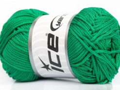 Lot of 4 x 100gr Skeins Ice Yarns MACRAME CORD Hand Knitting Yarn Green