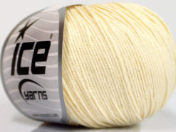 Lot of 4 Skeins Ice Yarns AMIGURUMI COTTON (60% Cotton) Yarn Cream
