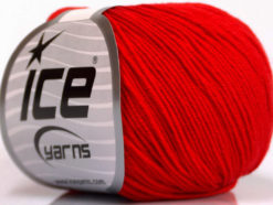 Lot of 4 Skeins Ice Yarns AMIGURUMI COTTON (60% Cotton) Hand Knitting Yarn Red
