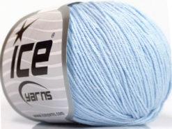 Lot of 4 Skeins Ice Yarns AMIGURUMI COTTON (60% Cotton) Yarn Baby Blue