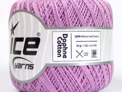 Lot of 6 Skeins Ice Yarns DAPHNE COTTON (100% Mercerized Cotton) Yarn Lilac