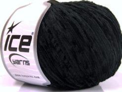 Lot of 6 Skeins Ice Yarns AMIGURUMI CHENILLE Hand Knitting Yarn Black