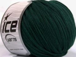 Lot of 8 Skeins Ice Yarns RIBBON WOOL (50% Wool) Hand Knitting Yarn Dark Green