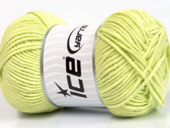 Lot of 4 x 100gr Skeins Ice Yarns LORENA WORSTED (55% Cotton) Yarn Light Green