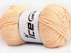 Lot of 4 x 100gr Skeins Ice Yarns LORENA WORSTED (55% Cotton) Yarn Light Salmon