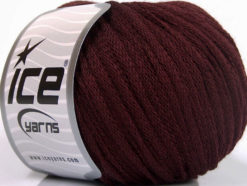 Lot of 8 Skeins Ice Yarns RIBBON WOOL (50% Wool) Hand Knitting Yarn Maroon