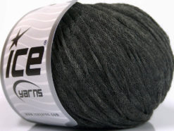 Lot of 8 Skeins Ice Yarns RIBBON WOOL (50% Wool) Yarn Grey Melange