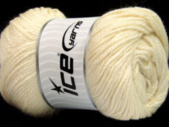 Lot of 4 x 100gr Skeins Ice Yarns NORSK (45% Alpaca 25% Wool) Yarn Cream