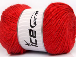 Lot of 4 x 100gr Skeins Ice Yarns NORSK (45% Alpaca 25% Wool) Yarn Tomato Red