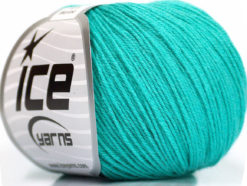 Lot of 6 Skeins Ice Yarns BABY MERINO (40% Merino Wool) Yarn Mint Green