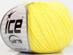 Lot of 6 Skeins Ice Yarns BABY MERINO (40% Merino Wool) Yarn Light Yellow