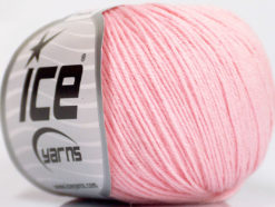 Lot of 6 Skeins Ice Yarns BABY MERINO (40% Merino Wool) Yarn Baby Pink
