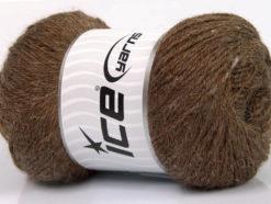 Lot of 4 x 100gr Skeins Ice Yarns NORSK FINE (45% Alpaca 25% Wool) Yarn Brown