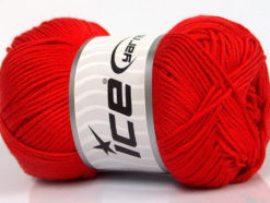 Lot of 4 x 100gr Skeins Ice Yarns BAMBOO SOFT (50% Bamboo) Yarn Red