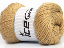 Lot of 4 x 100gr Skeins Ice Yarns NORSK (45% Alpaca 25% Wool) Yarn Light Brown