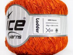 Lot of 6 Skeins Ice Yarns Trellis LADDER Hand Knitting Yarn Orange