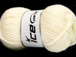 Lot of 4 x 100gr Skeins Ice Yarns FELTING WOOL (100% Wool) Yarn Cream