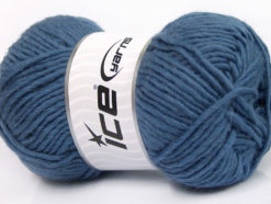 Lot of 4 x 100gr Skeins Ice Yarns FELTING WOOL (100% Wool) Yarn Smoke Blue