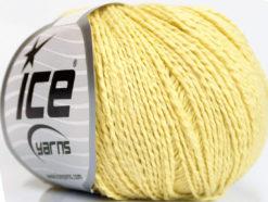 Lot of 4 Skeins Ice Yarns SILK COTTON (32% Silk 68% Cotton) Yarn Yellow