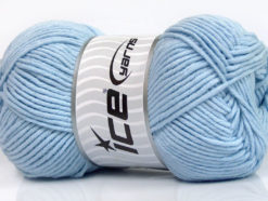 Lot of 4 x 100gr Skeins Ice Yarns LORENA WORSTED (55% Cotton) Yarn Light Blue