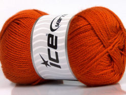 Lot of 4 x 100gr Skeins Ice Yarns DORA Hand Knitting Yarn Dark Orange