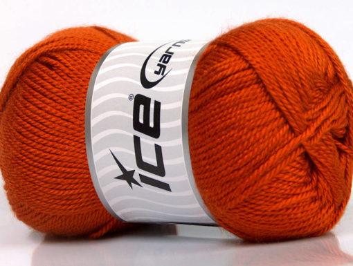 Lot of 4 x 100gr Skeins Ice Yarns DORA Hand Knitting Yarn Dark Orange