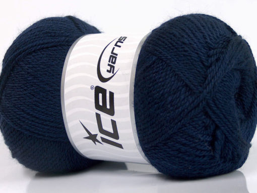 Lot of 4 x 100gr Skeins Ice Yarns DORA Hand Knitting Yarn Navy
