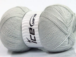 Lot of 4 x 100gr Skeins Ice Yarns SUPER BABY Hand Knitting Yarn Light Grey
