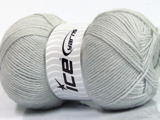 Lot of 4 x 100gr Skeins Ice Yarns SUPER BABY Hand Knitting Yarn Light Grey