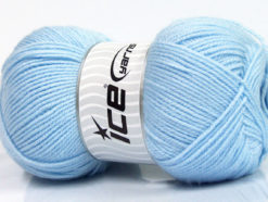 Lot of 4 x 100gr Skeins Ice Yarns SUPER BABY Hand Knitting Yarn Baby Blue