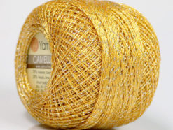Lot of 10 Skeins YarnArt CAMELLIA (30% Metallic) Hand Knitting Yarn Gold Silver