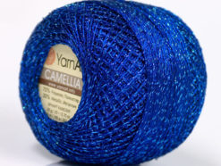Lot of 10 Skeins YarnArt CAMELLIA (30% Metallic) Hand Knitting Yarn Blue