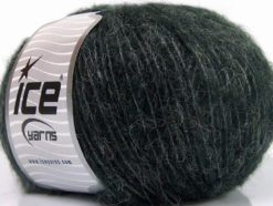 Lot of 8 Skeins Ice Yarns ALPACA SOFTAIR (25% Alpaca 15% Superwash Merino Wool) Yarn Anthracite Black