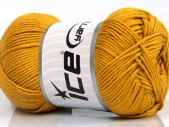 Lot of 4 x 100gr Skeins Ice Yarns BABY COTTON 100GR (100% Giza Cotton) Yarn Gold