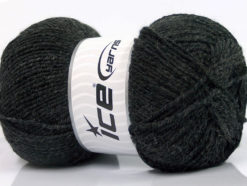 Lot of 4 x 100gr Skeins Ice Yarns ELITE WOOL (30% Wool) Yarn Anthracite Black