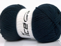 Lot of 4 x 100gr Skeins Ice Yarns ELITE WOOL (30% Wool) Yarn Dark Navy
