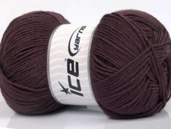 Lot of 4 x 100gr Skeins Ice Yarns ELITE WOOL (30% Wool) Yarn Maroon