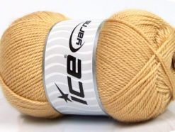 Lot of 4 x 100gr Skeins Ice Yarns DORA Hand Knitting Yarn Cafe Latte