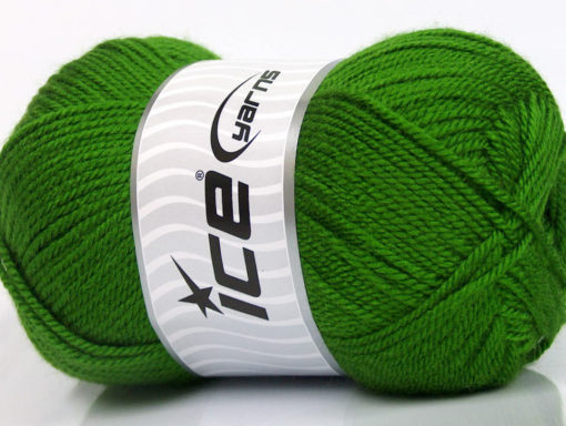 Lot of 4 x 100gr Skeins Ice Yarns DORA Hand Knitting Yarn Green