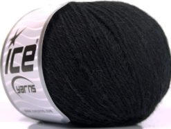 Lot of 4 Skeins Ice Yarns BABY ALPACA (45% Superwash Extrafine Merino Wool) Yarn Black