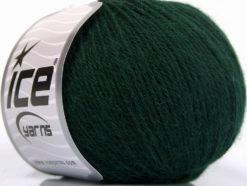 Lot of 4 Skeins Ice Yarns BABY ALPACA (45% Superwash Extrafine Merino Wool) Yarn Dark Green