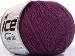 Lot of 4 Skeins Ice Yarns BABY ALPACA (45% Superwash Extrafine Merino Wool) Yarn Maroon