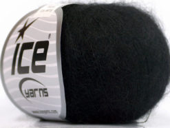 Lot of 6 Skeins Ice Yarns SUPER KID MOHAIR (52% SuperKid Mohair 13% Superwash Extrafine Merino Wool) Yarn Black
