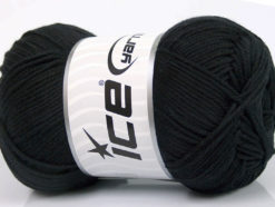 Lot of 4 x 100gr Skeins Ice Yarns BABY COTTON 100GR (100% Giza Cotton) Yarn Black