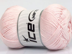 Lot of 4 x 100gr Skeins Ice Yarns BABY COTTON 100GR (100% Giza Cotton) Yarn Light Pink