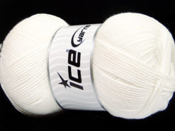 Lot of 4 x 100gr Skeins Ice Yarns BAMBOO SOFT FINE (50% Bamboo) Yarn White