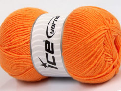 Lot of 4 x 100gr Skeins Ice Yarns BAMBOO SOFT FINE (50% Bamboo) Yarn Orange