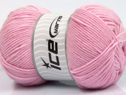 Lot of 4 x 100gr Skeins Ice Yarns BAMBOO SOFT FINE (50% Bamboo) Yarn Baby Pink