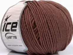 Lot of 4 Skeins Ice Yarns SUPERWASH MERINO EXTRAFINE (100% Superwash Extrafine Merino Wool) Yarn Brown