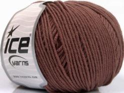 Lot of 4 Skeins Ice Yarns SUPERWASH MERINO EXTRAFINE (100% Superwash Extrafine Merino Wool) Yarn Brown